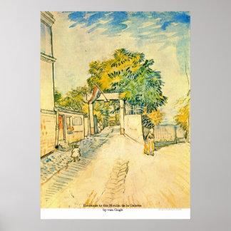 Entrance to the Moulin de la Galette by van Gogh Poster