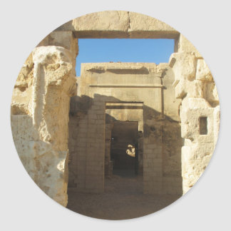 Entrance to The Oracle of Amon - Siwa Oasis Classic Round Sticker