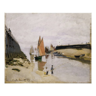 Entrance to the Port of Trouville (1870) Canvas Poster