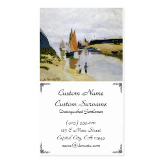 Entrance to the Port of Trouville Claude Monet Business Card