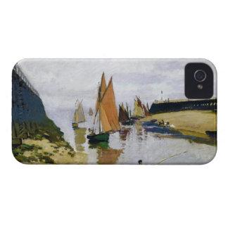 Entrance to the Port of Trouville Claude Monet iPhone 4 Case