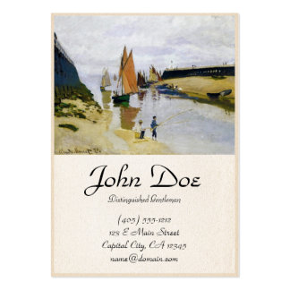 Entrance to the Port of Trouville Claude Monet Large Business Card