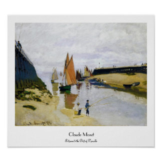 Entrance to the Port of Trouville Claude Monet Poster