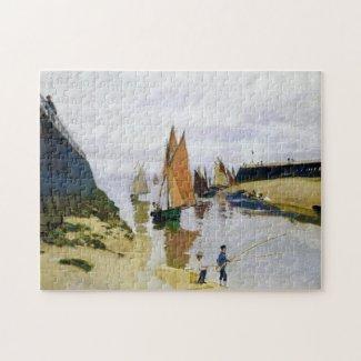 Entrance to the Port of Trouville Claude Monet Puzzle