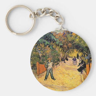 Entrance to the Public Park by Vincent van Gogh Keychain
