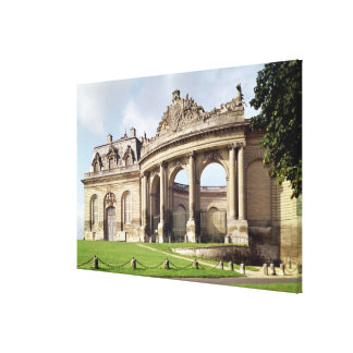Entrance to the stables canvas print