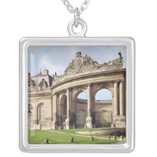 Entrance to the stables silver plated necklace
