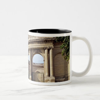 Entrance to the stables Two-Tone coffee mug