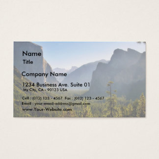 Entrance To The Yosemite Valley Business Card