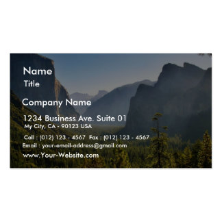 Entrance To The Yosemite Valley Double-Sided Standard Business Cards (Pack Of 100)