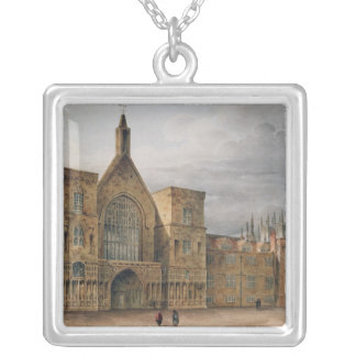 Entrance to Westminster Hall, 1807 Silver Plated Necklace