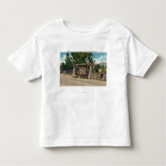 Entrance to Whiteface Mt. Highway Tee Shirts