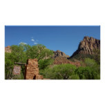 Entrance to Zion National Park in Utah Poster