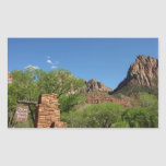 Entrance to Zion National Park in Utah Rectangular Sticker
