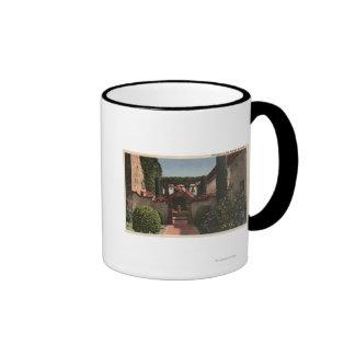 Entrance View of the Sacred Garden Ringer Coffee Mug