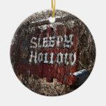 Entrar en el hueco el dormir ornamento para arbol de navidad