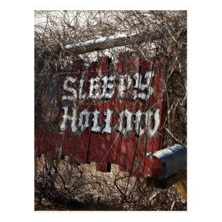 Entrar en el hueco el dormir postal