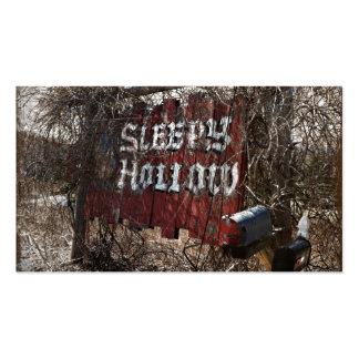 Entrar en el hueco el dormir tarjetas de visita