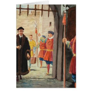 Entrar en la torre de Londres Tarjeta De Felicitación