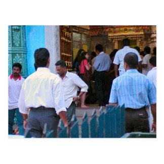 Entrar en un templo hindú tarjetas postales