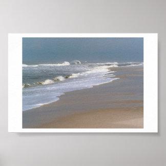 Entrar precipitadamente de las ondas póster