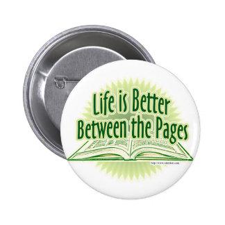 Entre el estilo verde de las páginas pin redondo 5 cm