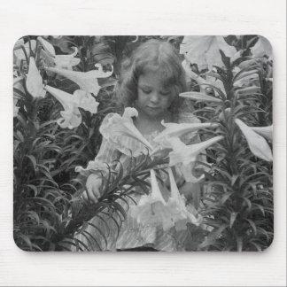 Entre el Lillies - vintage Stereoview Alfombrilla De Raton