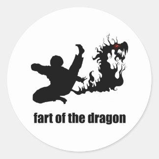 Entre en Fart del dragón Pegatina