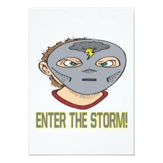 """Entre en la tormenta invitación 5"""" x 7"""""""