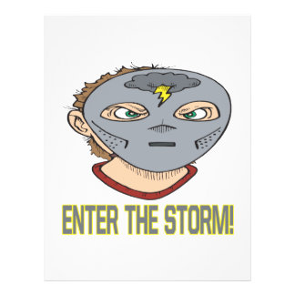 Entre en la tormenta tarjeton