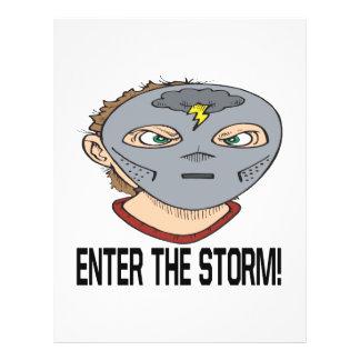 Entre en la tormenta tarjetón