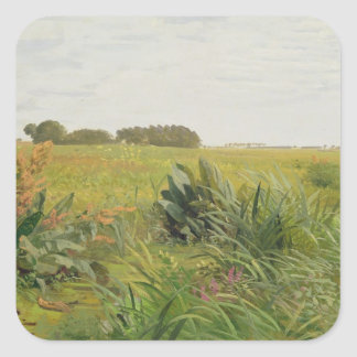 Entre Geest y el pantano, c.1880 Calcomanía Cuadradas Personalizada