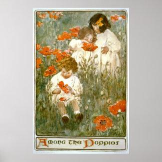 Entre las amapolas 1904 póster