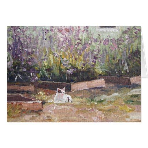"""Entre las flores púrpuras"" Notecard"