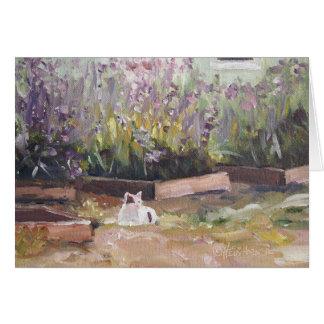 """""""Entre las flores púrpuras"""" Notecard Felicitaciones"""