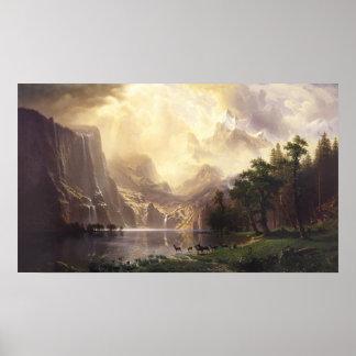 Entre las montañas de Sierra Nevada Posters