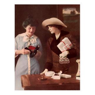 Entre los amigos Circa 1915 Tarjetas Postales