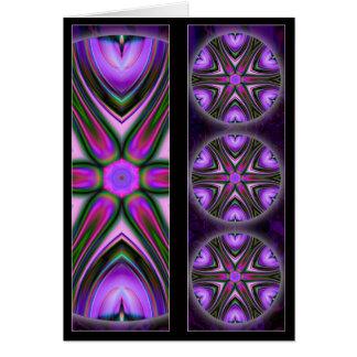 Entrecruce la tarjeta de la señal de la mandala