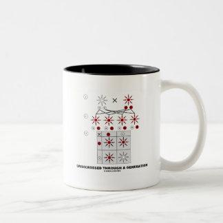 Entrecruzado a través de una generación (cuadrado  taza de café