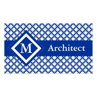 Entrecruzamiento azul y modelo geométrico de las tarjetas de visita