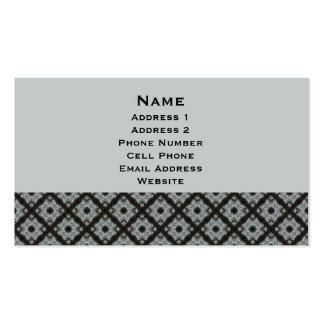Entrecruzamiento gris tarjetas de visita