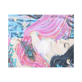 Entrega al amor impresion de lienzo