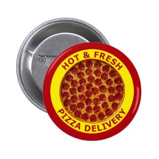 Entrega caliente y fresca de la pizza pin