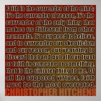 Entrega de Chris Hitchens del poster de la razón (