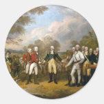 Entrega de general Burgoyne - 1822 Pegatina Redonda