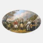 Entrega de general Burgoyne - 1822 Calcomania De Óval Personalizadas