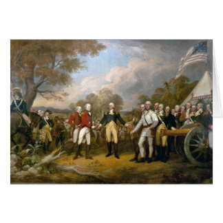 Entrega de general Burgoyne - 1822 Tarjeta Pequeña