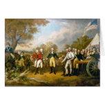 Entrega de general Burgoyne de Juan Trumbull Tarjeta