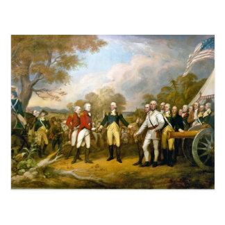 Entrega de general Burgoyne de Juan Trumbull Postal