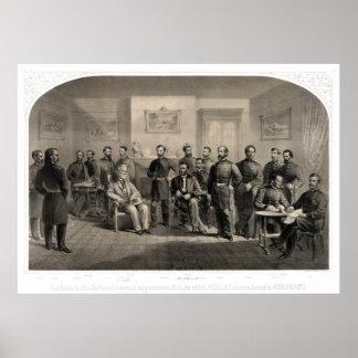 Entrega de general Lee en el Appomattox Póster